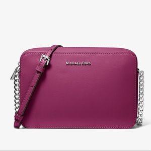 MICHAEL KORS Large Saffiano Leather Crossbody Bag